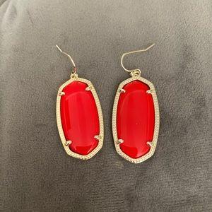 Red Kendra Scott Elle Drop Earrings